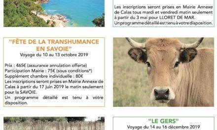 Voyages séniors 2019