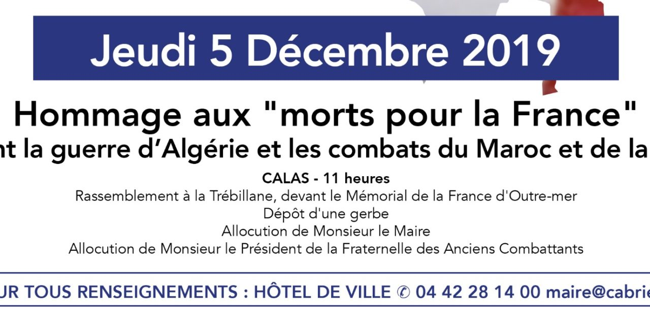 Commémoration : Hommage aux morts pour la France