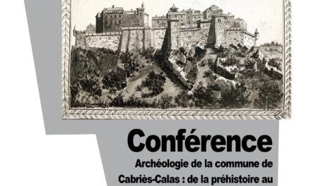 Conférence : Archéologie de la commune de Cabriès-Calas