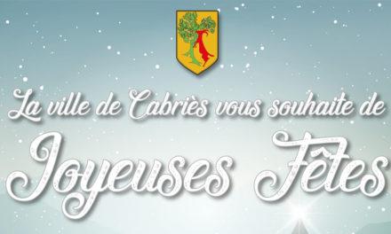 La ville de Cabriès vous souhaite de Joyeuses Fêtes