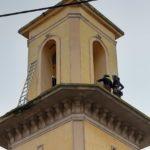 Travaux sur le clocher de l'église de Calas